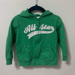 CARTERS | Green All-Star Zip-Up Hoodie 18M